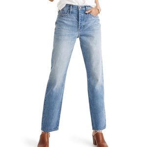 Madewell Dad Jeans Light Wash Straight Leg Denim